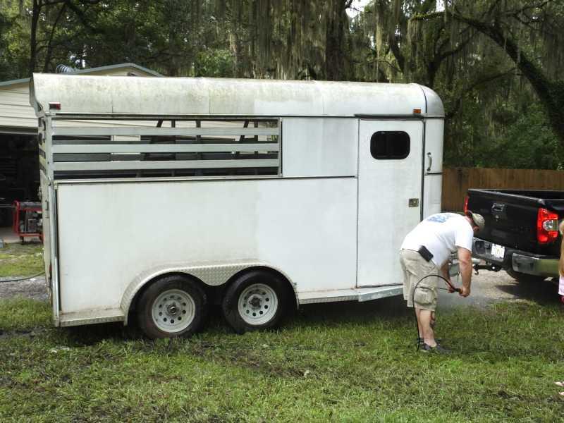 horse trailer rebuild