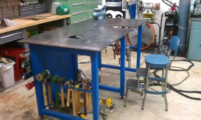 After Hours Welding shop bench