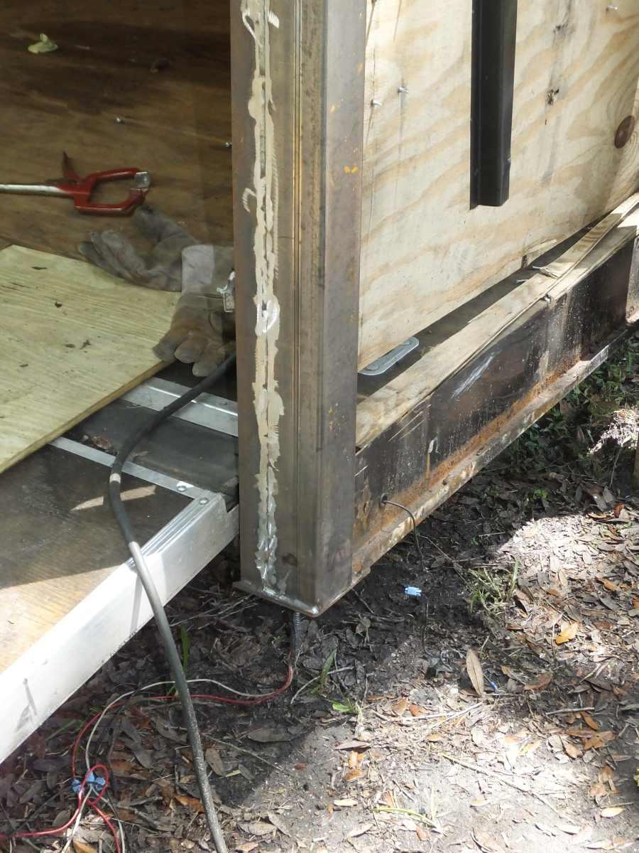 Highway damaged trailer repair rebuild.