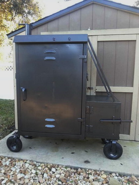 Building Bbq offset smokers cookers in St Augustine Fl.