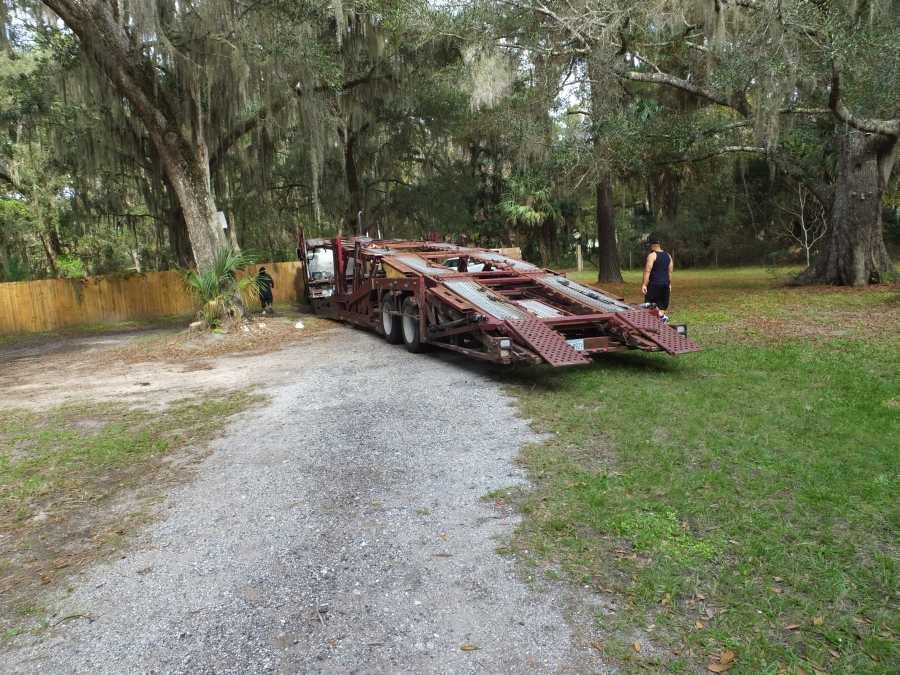 Car Hauler welding rebuilds & repairs pictures